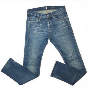 7 For All Mankind Rhigby Slim Straight Jeans 31x32